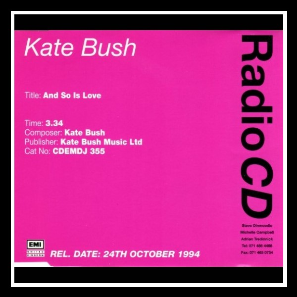 And So Is Love England Promo Maxi CD A (2)