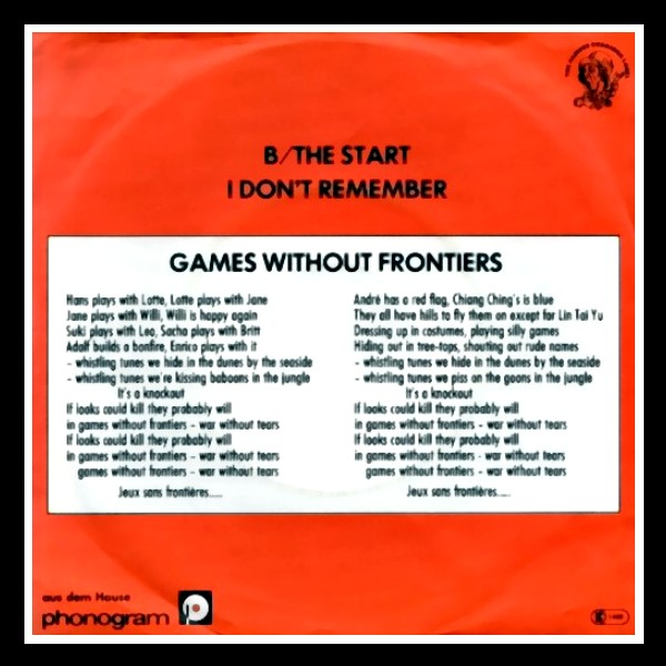 Games Without Frontiers B