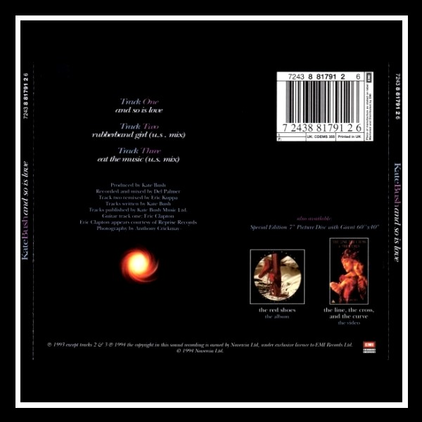 And So Is Love England Limited Edition Maxi CD B